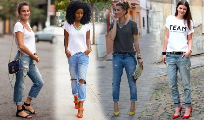 С чем носить женские джинсы бойфренды: модные образы и фото