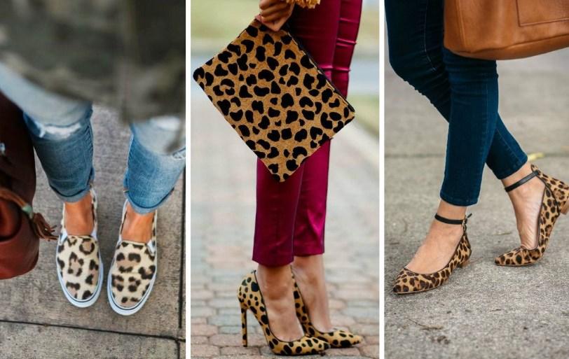 С чем носить леопардовые туфли: модные образы и фото