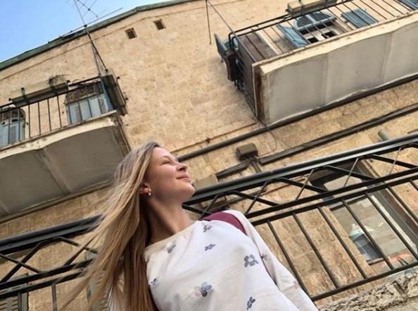 Юлия Пересильд в Иерусалиме фото