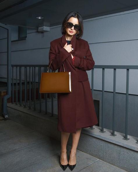 Тина Канделаки в пальто фото